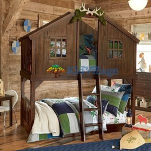 двухъярусная кровать домик