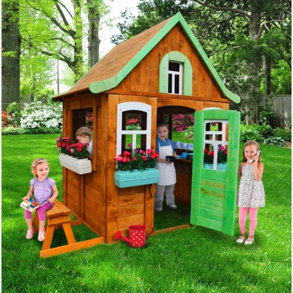 детский игровой домик цветочный домик