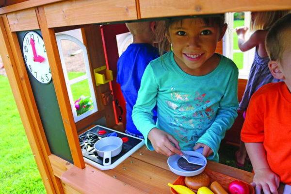детский игровой домик цветочный домик люкс