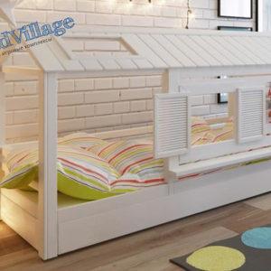 кровать домик белый в детскую