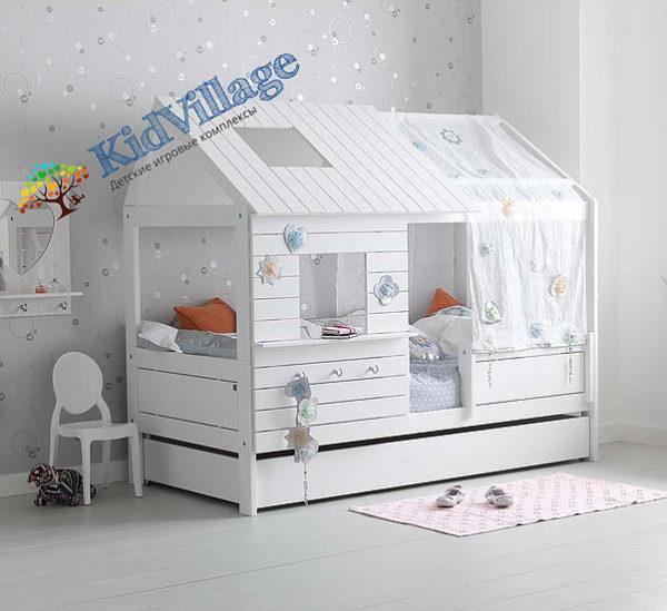 детская кровать домик из дерева