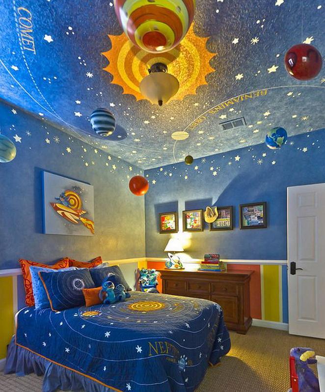 космический потолок в детской2