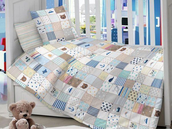 Комплект детского постельного белья сатин