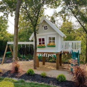 детский игровой домик с горкой