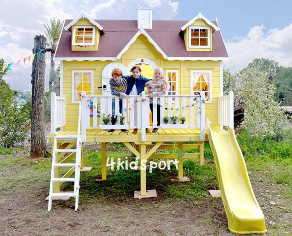 детский игровой домик из дерева2