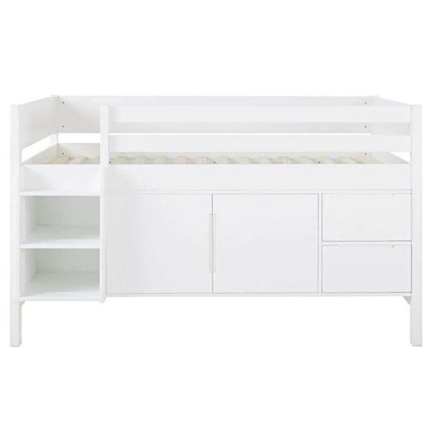 детская кровать с зонами хранения