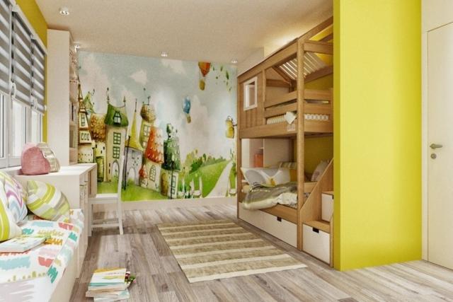 Двухъярусная кроватка-домик