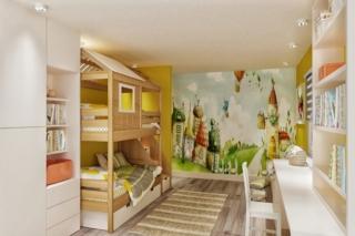 Двухъярусная кроватка-домик 3