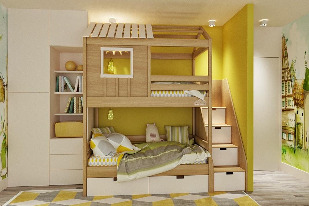 Двухъярусная кроватка-домик 4