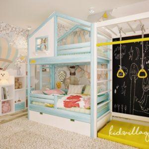 кровать домик с игровой зоной
