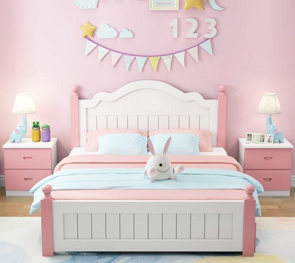 кровать для девочки из массива1