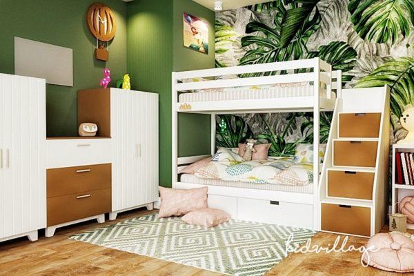 кровать с лестницей-комодом