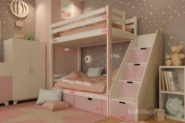 двухъярусная кровать глори6