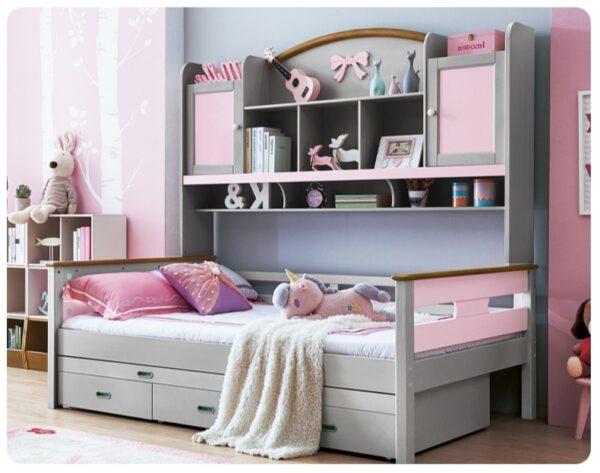 детская кровать со шкафчиками