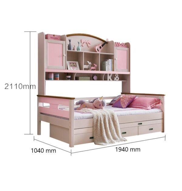 детская кровать со шкафчиками1