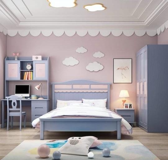 классическая кровать детская скай